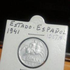 Monedas Franco: 10 CÉNTIMOS DE PESETAS DE FRANCO 1941 SIN CIRCULAR.. Lote 221837646