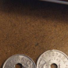 Monedas Franco: 50 CÉNTIMOS 1949 ( 2) UNA CON AGUJERO DESPLAZADO. Lote 221859280