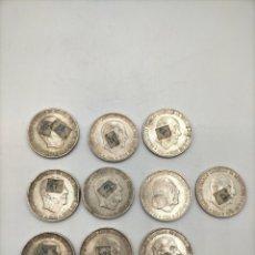 Monedas Franco: 10 MONEDAS DE CIEN PESETAS DE FRANCO DE PLATA. TAL Y COMO SE VEN EN LAS FOTOS.. Lote 221882042