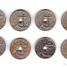 Monedas Franco: 8 MONEDAS DE 50 CÉNTIMOS 1949 - ESTADO ESPAÑOL - CIRCULADAS - DIFERENTES ESTADOS.. Lote 222046426