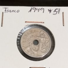 Monedas Franco: 50 CÉNTIMOS 1949 *51. Lote 222060681