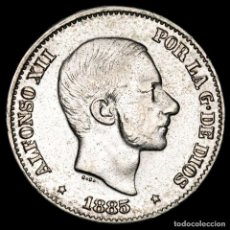 Monedas Franco: ESPAÑA - FILIPINAS 50 CENTIMOS DE PESO 1885 ALFONSO XII (53). Lote 222374747