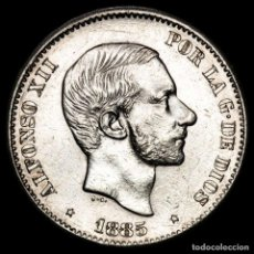Monedas Franco: ESPAÑA - FILIPINAS 50 CENTIMOS DE PESO 1885 ALFONSO XII (52). Lote 222374876