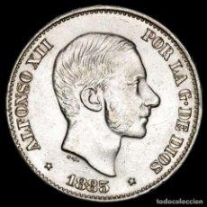 Monedas Franco: ESPAÑA - FILIPINAS 50 CENTIMOS DE PESO 1885 ALFONSO XII (55). Lote 222375102