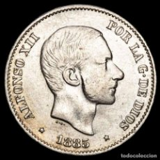 Monedas Franco: ESPAÑA - FILIPINAS 50 CENTIMOS DE PESO 1885 ALFONSO XII (56). Lote 222375182