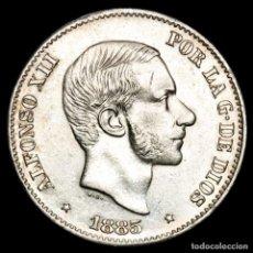 Monedas Franco: ESPAÑA - FILIPINAS 50 CENTIMOS DE PESO 1885 ALFONSO XII (57). Lote 222375298