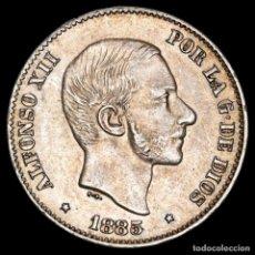 Monedas Franco: ESPAÑA - FILIPINAS 50 CENTIMOS DE PESO 1885 ALFONSO XII (58). Lote 222375501