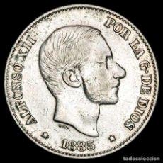 Monedas Franco: ESPAÑA - FILIPINAS 50 CENTIMOS DE PESO 1885 ALFONSO XII (59). Lote 222375655