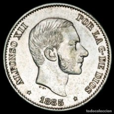 Monedas Franco: ESPAÑA - FILIPINAS 50 CENTIMOS DE PESO 1885 ALFONSO XII (60). Lote 222375762