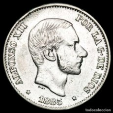 Monedas Franco: ESPAÑA - FILIPINAS 50 CENTIMOS DE PESO 1885 ALFONSO XII (61). Lote 222375877