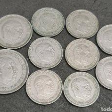 Monedas Franco: LOTE DE 10 MONEDAS DE 1957 LEER ANUNCIO. Lote 222391306