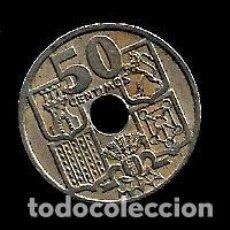 Monedas Franco: MONEDA DE 50 CENTIMOS - ESTADO ESPAÑOL - 1949-51 - FLECHAS INVERTIDAS. Lote 222393106