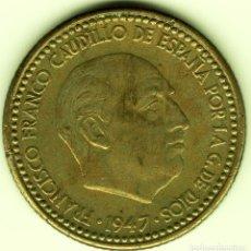 Monedas Franco: 1 PESETA 1947 (*19-53) MADRID. Lote 222682692