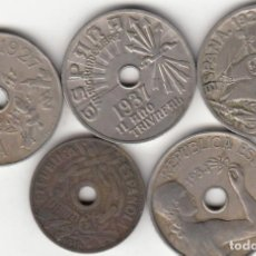 Monedas Franco: LOTE 25 CENTIMOS 1925-1927-1934-1937-1938. Lote 26722120