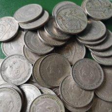 Monedas Franco: MONEDA 25 PESETAS 1957 ESTRELLA 61 LOTE DE 70. Lote 224418231