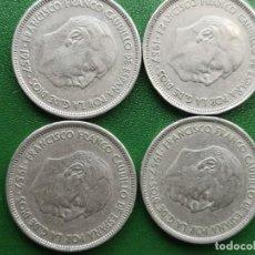 Monedas Franco: MONEDA 25 PESETAS 1957 ESTRELLA 61 RARA LOTE DE 4. Lote 224435618