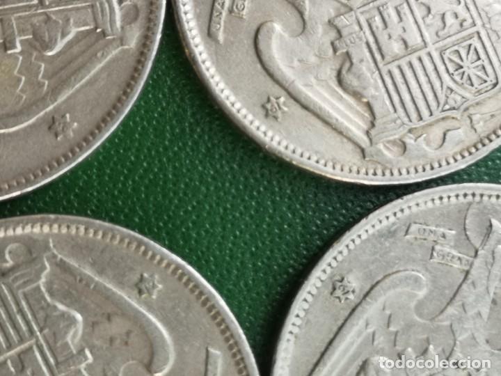 Monedas Franco: Moneda 25 pesetas 1957 estrella 61 rara lote de 4 - Foto 3 - 224435618
