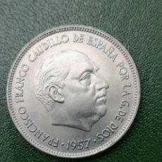 Monedas Franco: MONEDA 25 PESETAS 1957 ESTRELLA 71 SIN CIRCULAR. Lote 224610116