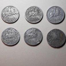 Monedas Franco: 6 MONEDAS 10 CENTIMOS 1940, 1945 FRANCO. Lote 225337325
