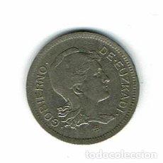 Monedas Franco: MONEDA GOBIERNO DE EUSKADI 1 PESETAS AÑO 1937. Lote 226077405