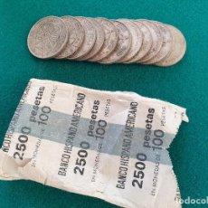 Monnaies Franco: 11 MONEDAS DE FRANCO, 100 PESETAS PLATA. Lote 226088680