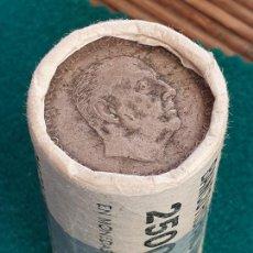 Monedas Franco: CARTUCHO DE MONEDAS DE FRANCO, 100 PESETAS PLATA. Lote 226091190