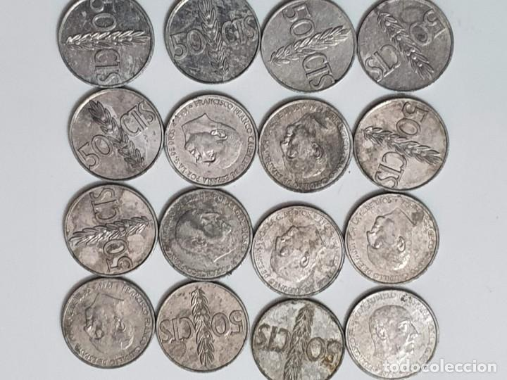 16 MONEDAS 50 CENTIMOS ESPAÑA (Numismática - España Modernas y Contemporáneas - Estado Español)