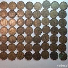 Monedas Franco: 64 MONEDAS 1 PESETA FRANCO 1963. ESTRELLAS NO LEGIBLES. Lote 226353725