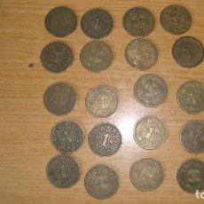 Monedas Franco: LOTE 20 MONEDAS 1 PTA. 1944 VER FOTOS Y DESCRIPCION. Lote 226569650