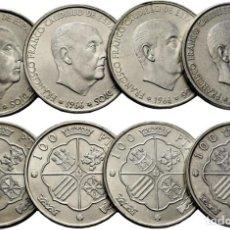 Monedas Franco: 4 MONEDAS 100 PESETAS FRANCO 1966*66*67*68*70 EBC+/S/C-/S/C. Lote 226922160