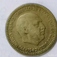 Monnaies Franco: MONEDA 1 PESETA, 1947, ESTRELLA 19 - 50. Lote 227016745