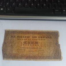 Monnaies Franco: 100 PESETAS 1938. Lote 227202887