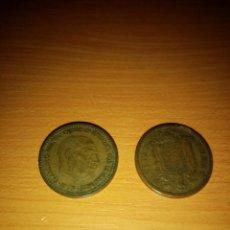 Monedas Franco: DOS MONEDAS DE UNA PESETA FRANCO 1953. Lote 227347170
