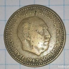 Monedas Franco: 1 PESETA 1947 ESTRELLAS 19-53. (A). Lote 227444685