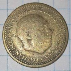 Monedas Franco: 1 PESETA 1947 ESTRELLAS 19-53. (B). Lote 227444750