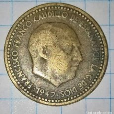 Monedas Franco: 1 PESETA 1947 ESTRELLAS 19-53. (D). Lote 227444805