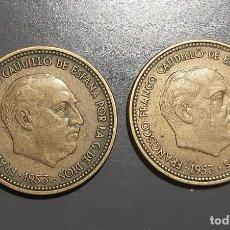 Monedas Franco: LOTE DE 2 MONEDAS 2,50 PESETA 1953 *(19-54) Y *(19-56). Lote 227572230