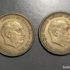 Monedas Franco: LOTE DE 2 MONEDAS 2,50 PESETA 1953 *(19-54) Y *(19-56). Lote 227572320
