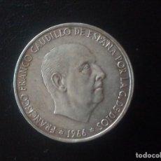 Monnaies Franco: 100 PESETAS F. FRANCO PLATA 1966 ESTRELLAS 1970. Lote 228879320