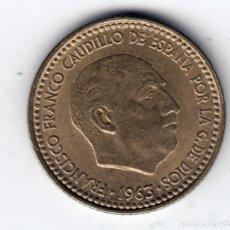 Moedas Franco: ESPAÑA 1 PESETA FRANCO 1963 *19* *63* PRATCIAMENTE SIN CIRCULAR. Lote 229812080