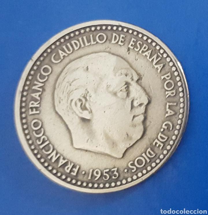 MONEDA DE UNA PESETA 1953 *61 (Numismática - España Modernas y Contemporáneas - Estado Español)
