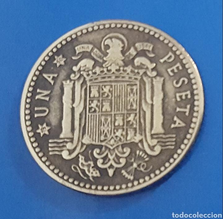 Monedas Franco: MONEDA DE UNA PESETA 1947 *50 - Foto 2 - 230410895