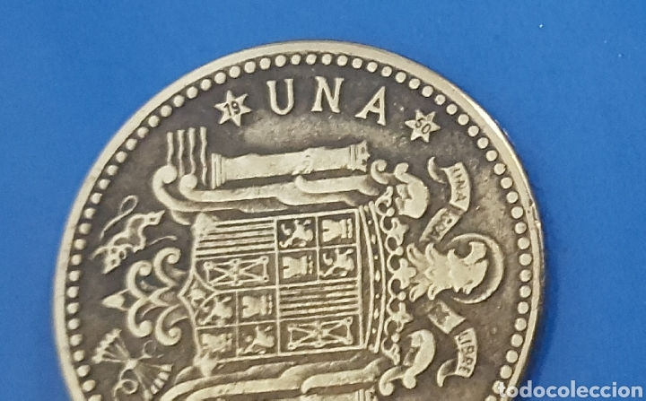 Monedas Franco: MONEDA DE UNA PESETA 1947 *50 - Foto 3 - 230410895