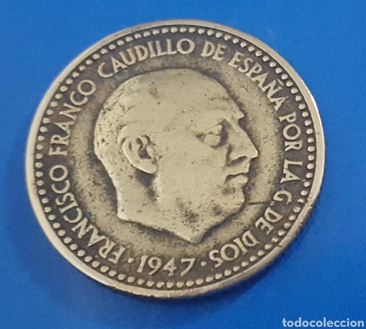 MONEDA DE UNA PESETA 1947 *50 (Numismática - España Modernas y Contemporáneas - Estado Español)