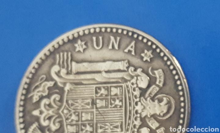 Monedas Franco: MONEDA DE UNA PESETA 1963 *67 - Foto 3 - 230414265