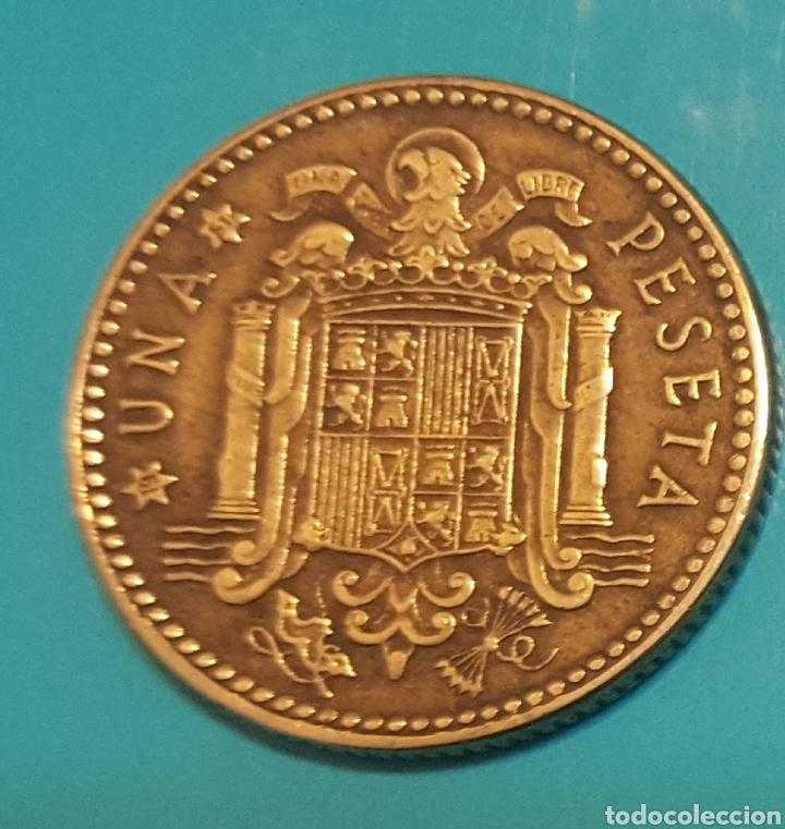 Monedas Franco: MONEDA DE UNA PESETA 1947 *51 - Foto 2 - 230425545