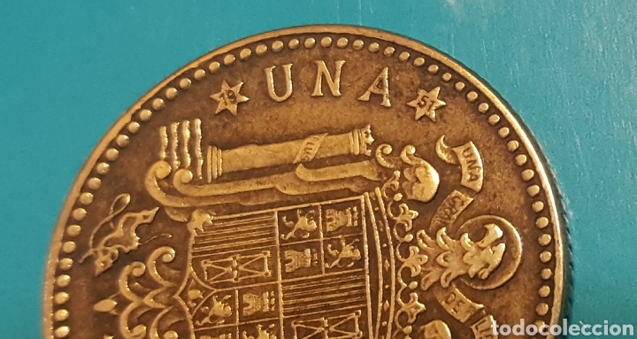 Monedas Franco: MONEDA DE UNA PESETA 1947 *51 - Foto 3 - 230425545