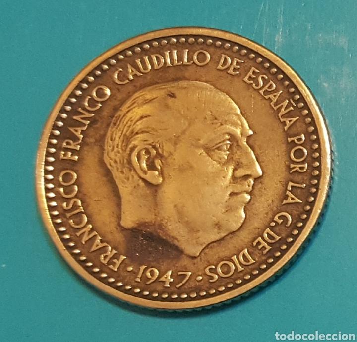 MONEDA DE UNA PESETA 1947 *51 (Numismática - España Modernas y Contemporáneas - Estado Español)