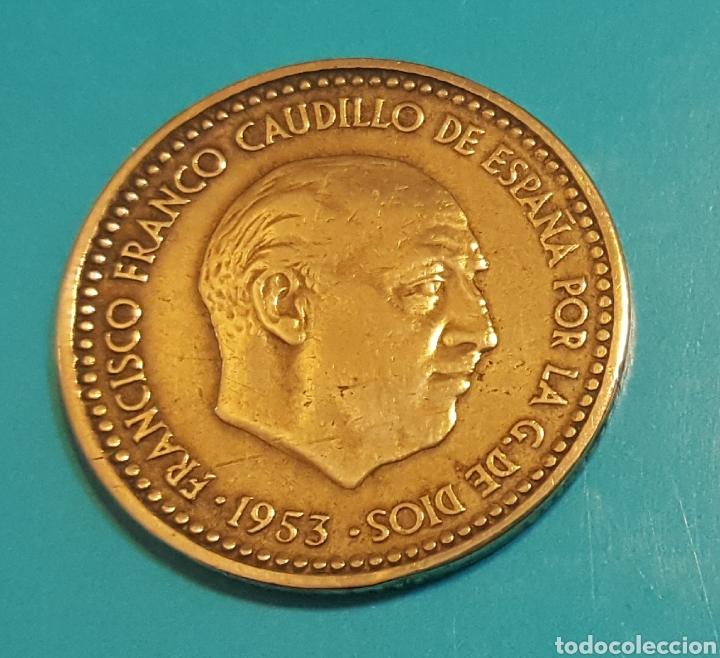 MONEDA DE UNA PESETA 1953 *60 (Numismática - España Modernas y Contemporáneas - Estado Español)