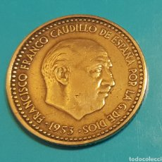 Monedas Franco: MONEDA DE UNA PESETA 1953 *60. Lote 230428465